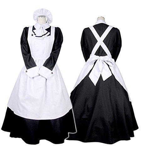 [MOMOER Handmade Apron Dress Cosplay Costumes Custom-made French Maid Dresses] (Custom French Maid Costumes)