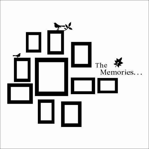 creative wall decal picture frames put all that love on decorative frame wall sticker world of wall stickers