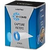 V-Comb Capture Filter Refill - 8 Head Lice and Nit Capture Filters - Requires V-Comb Head Lice Comb - Natural Lice Treatment