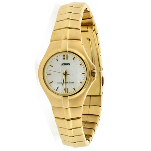 Lorus Ladies Link Watch Gold Tone Stainless Steel Mother of Pearl Dial