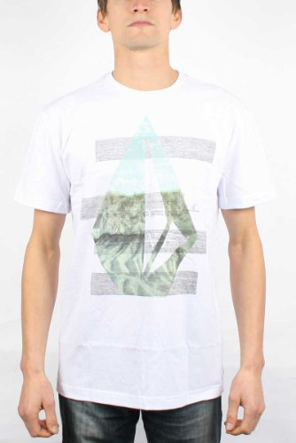 Volcom - Stairway S/S Tee Men S/S Basic T-Shirt, Size: X-Large, Color: White