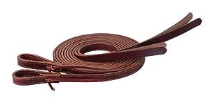 Weaver Leather ProTack Burgundy Latigo Leather Split Rein with Popper Ends, Burgundy
