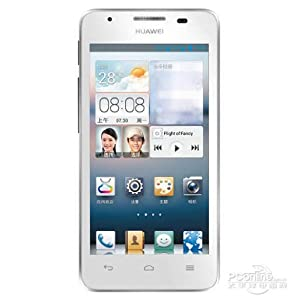 Huawei G510 Dual Core 3g 4.5 Inch IPS 1.0ghz with Android 4.1 Dual Cam Smartphone (White)