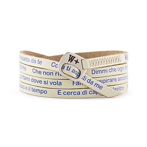 "BRACCIALE WE POSITIVE MY SONG ""DOVE SI VOLA"" INTERPRETATO DA MARCO MENGONI COL. BEIGE MY479"