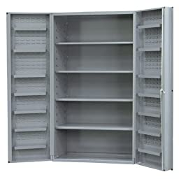 Durham Heavy Duty Welded 14 Gauge Steel Cabinet with 12 Door Shelves, DC36-4S12DS-95,  900 lbs Capacity,  24\