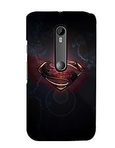 Citydreamz Shining Superman Logo Hard Polycarbonate Designer Back Case Cover For Motorola Moto X Play