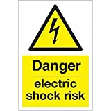 Ejs Signs Danger Electric Risk Sign 200mmx300mm