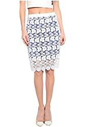 G2 Chic Women's High Waist Silm Fit Lace Bodycon Pencil Skirt