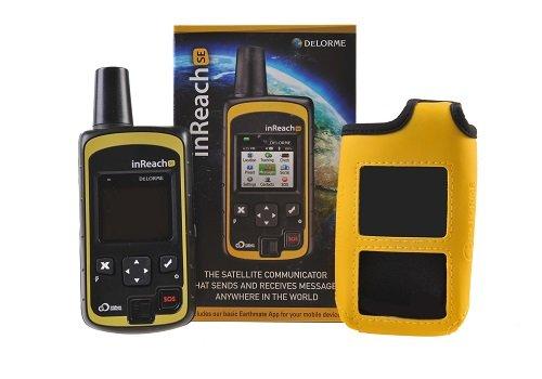 DeLorme inReach SE bidirectionnelle par satellite Communicator avec construit dans la navigation avec étui de flottation JAUNE En GTC
