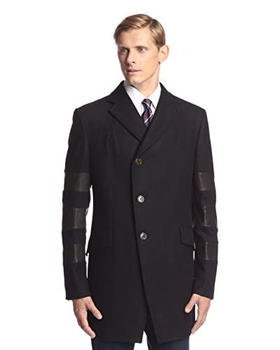Vivienne Westwood Men's Leather Stripe Overcoat