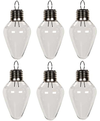 Creative Hobbies® Clear Plastic Bulb Shape Ornaments 100mm (4 Inch) Pack of 12 (Clear Bulbs compare prices)