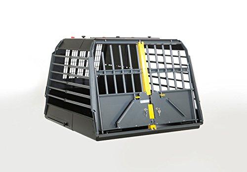 4x4 North America Variocage Double Crash Tested Dog Cage, Medium (Color: Gray/ Black, Tamaño: Medium)