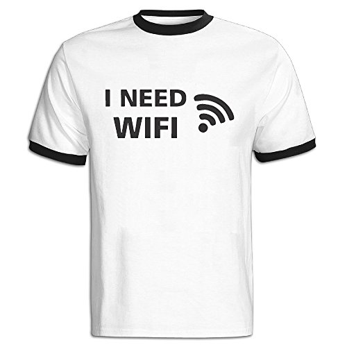 Wifi da uomo T-Shirt grande Black XX-Large