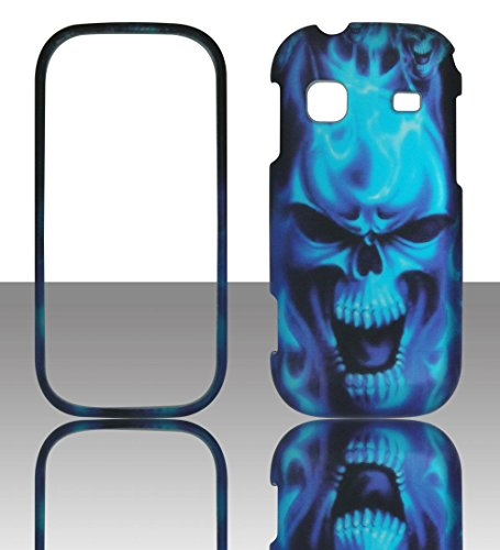 2D Blue Skull Samsung Gravity TXT T379 T-Mobile Case Cover Hard Phone Case Snap-on Cover Rubberized Touch Protector Faceplates (Samsung Gravity Txt T379 compare prices)
