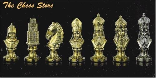 Medieval Brass Chess Set
