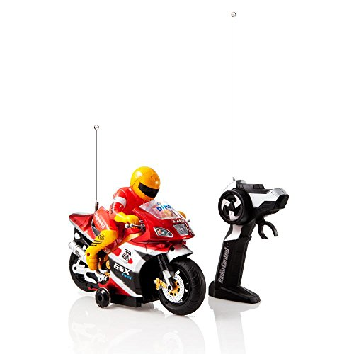 Red and Gold 'Speed Demon' Electric Radio Remote Controlled Racing Motorcycle with Driver, Lights & Sound Effects by Dimple (Radio Controlled Motorcycle compare prices)