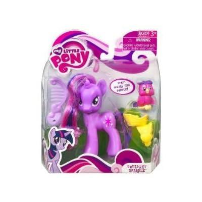 My Little Pony – FRiENDSHiP iS MAGiC – Einhorn TWiLiGHT SPARKLE (ca. 9cm) – mit Freund Eule & Sattel günstig online kaufen