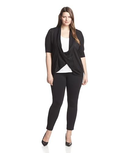 Cullen Plus Women's Elbow Sleeve Draped Sweater