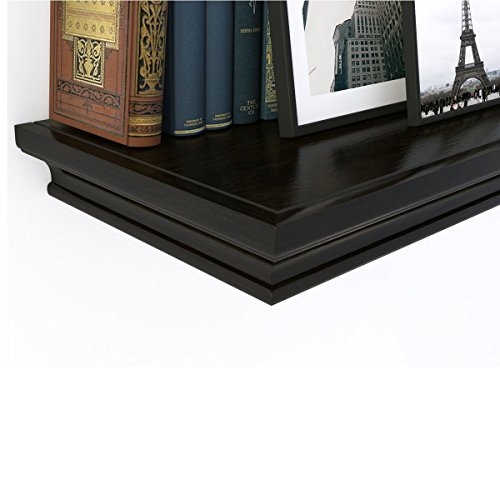 traditional small wall shelf ledge crown molding design 12 inches wide 8 inches deep black. Black Bedroom Furniture Sets. Home Design Ideas
