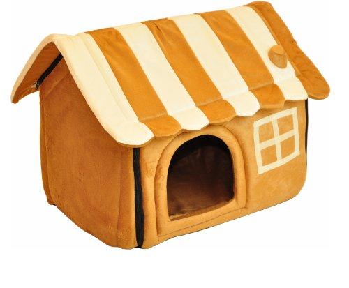 Artikelbild: nanook Hunde-Höhle Katzen-Höhle CARAMEL, für kleine Hunde, Katzen und Kleintiere, Größe S (56 x 49 cm), hellbraun gestreift
