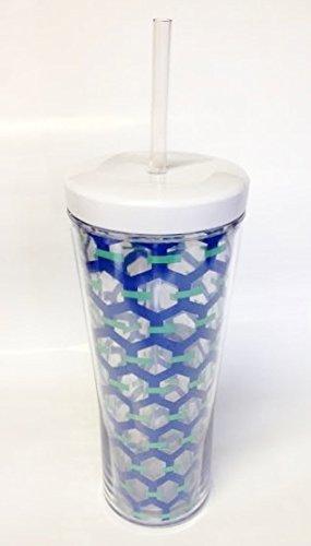 contigo-bueno-24-oz-double-wall-insulated-tumbler-and-straw-blue-chain-link