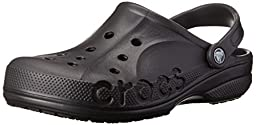 crocs Unisex Baya Clog, Black, 9 M (D) US Men / 11 M (B) US Women