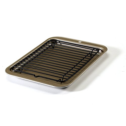 Nordic Ware Toaster Oven 2-Piece Broiler Set (Small Toaster Oven Pans compare prices)