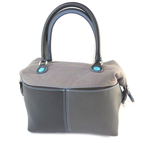 Borsa in pelle 3 in 1 'Gabs'tonalità di grigio 3 (m)- 38x30x5 cm.