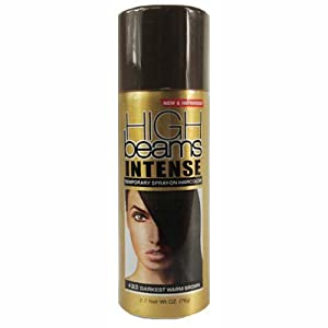high beams Intense Temporary Spray on Hair Color, Darkest Warm Brown, 2.7 Ounce