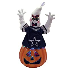 "16"" NFL Dallas Cowboys Lighted Fiber Optic Halloween Ghost Table Top Decoration"