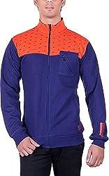 RGT Men's Fleece Regular Fit Sweatshirts (RGT7025NAVY-XL)