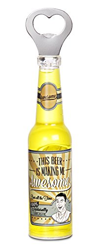 Pavilion Gift Company 22100 Awesome Magnetic Bottle Opener, 8-1/4-Inch, Beer All The Time front-272938