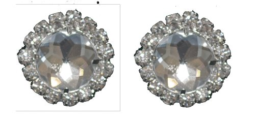 Striking Clip On Clear Crystal Rhinestone Earrings