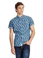Lee Cooper Camisa Hombre Shepton (Azul)