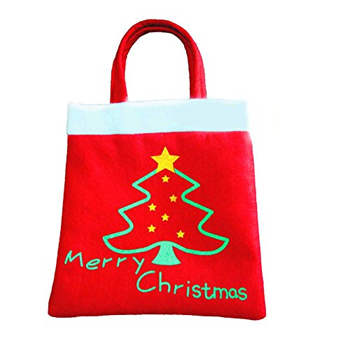 Creative Christmas Tree Pattern Santa Claus Candy Bag Handbag Home Party Decoration Gift Bag Christmas Supplie Free Shipping (Hoover Handbag compare prices)
