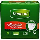 Depend Refastenable Underwear - Large - Pack of 16