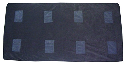 Black - Thermafur Air Activated Heating Stadium Blanket 4'X6' (Includes 8 Heat Pax Body Warmers) (Black)