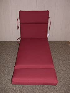 1 Outdoor Patio Chaise Cushion Brick Red 225 X 74 X 4 Shipping Included by Arden Companies