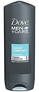 Dove Men and Care Body and Face Wash, Clean Comfort, 18 Ounce (Pack of 3)