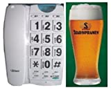 LARGE NUMBERS PHONE BIG BUTTONS TELEPHONE WITH ONE FREE HALF PINT ORIGINAL STAROPRAMEN GLASS SPECIAL OFFER image