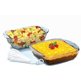 Anchor Hocking 8 Piece Bakeware Set Bonus Kitchen Gadgets