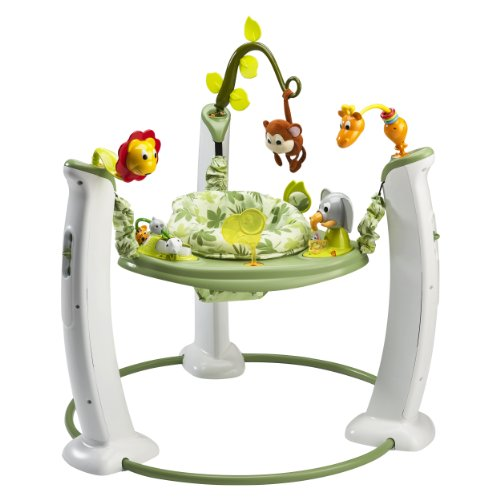Evenflo Exersaucer Jump And Learn Activity Centre Safari Friends front-820115