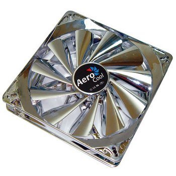 Aerocool Streamliner Quad Blue Led 140Mm Fan With 120Mm Adapter (Silver)