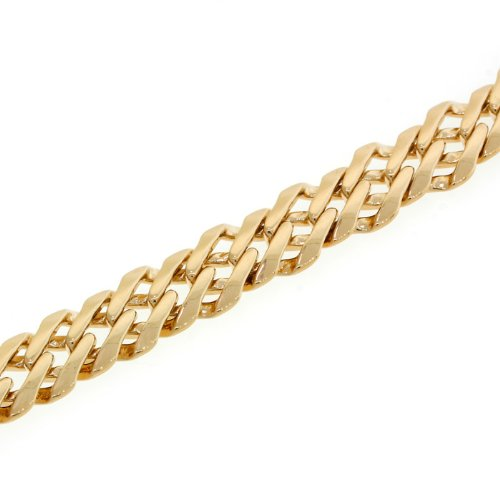 7.5inches, 191mm L x 9mm Wide 14 KT Yellow Gold Filled Chain Bracelet 16.6 G