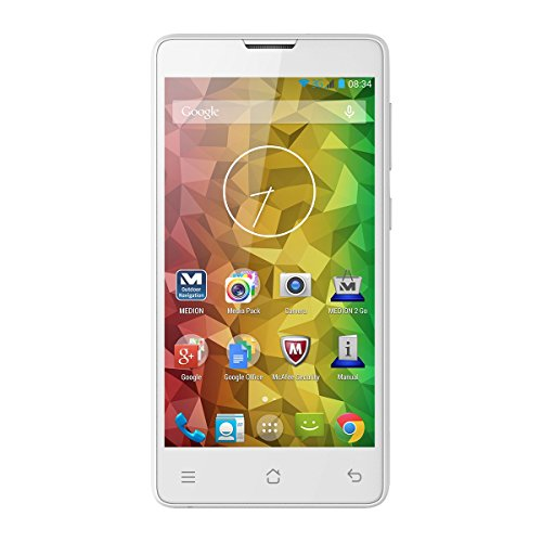 Medion E4503 MD99476 Smartphone (11,4 cm (4,5 Zoll), 3G, 5 Megapixel Kamera, Android 5.0) weiß