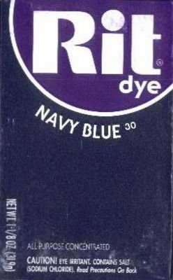 Rit Dye 32 g Navy Powder (6-Pack)