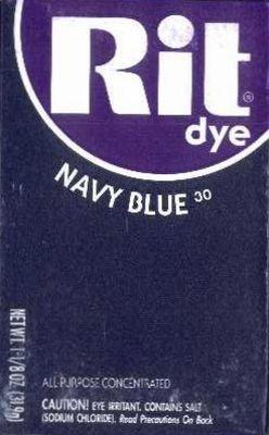 Rit Dye 32 g Navy Powder (6-Pack)