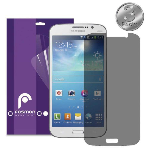 Fosmon Anti Spy Privacy Screen Protector Shield For Samsung Galaxy Mega 5.8 / I9152 - 3 Pack