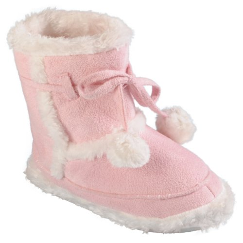 Journee Collection Kids Faux Fur Lined Toggle Slipper Boots