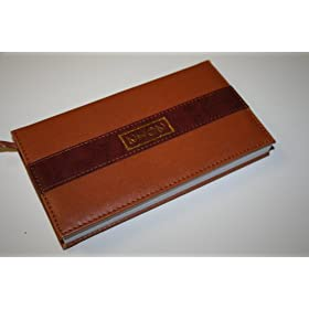 2012 Daily Planner Brown Hard Leather Cover 12 Month , 7 inch X 4 inch Calendar on Each Page